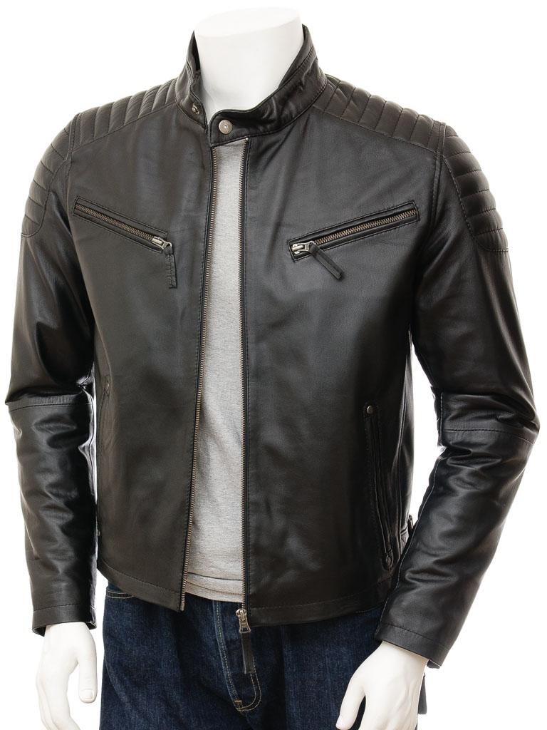 Mens Black Biker Leather Jacket: Maikop :: MEN :: Caine
