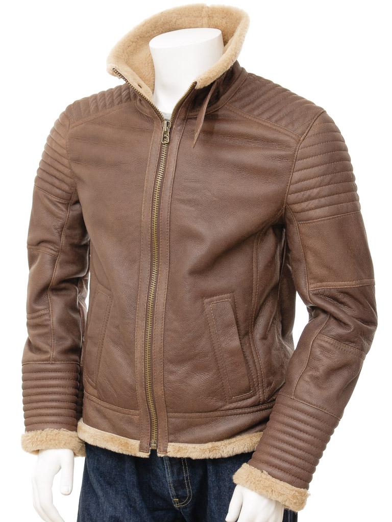 Mens Sheepskin Jacket in Brown: Berrynarbor :: MEN :: Caine