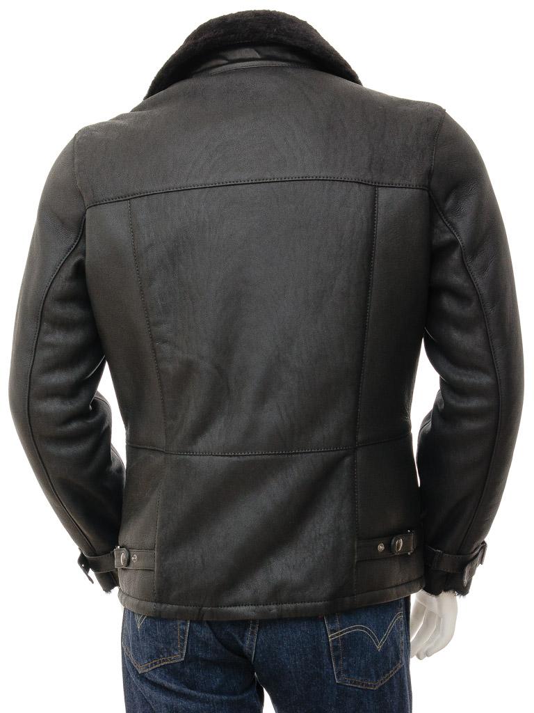 Mens Sheepskin Biker Jacket in Black: Bickingcott :: MEN :: Caine