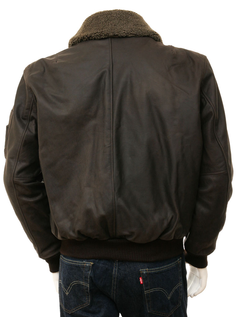 Leather Flight Jacket in Brown: Catania :: MEN :: Caine