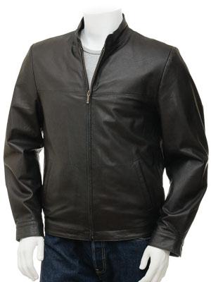Men's Black Leather Jacket: Rovno
