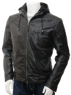 See all results for mens hooded leather jacket. Wantdo. Men's Faux Leather Jacket with Removable Hood $ 64 76 Prime. out of 5 stars Levi's. Men's Faux-Leather Jacket with Hood $ 69 99 Prime. out of 5 stars Tanming. Men's Pu Leather Jacket with Removable Fur Hood. from $ .