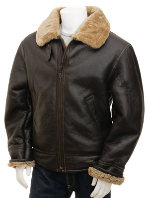 Men's Ginger Sheepskin Aviator Jacket: Chemnitz