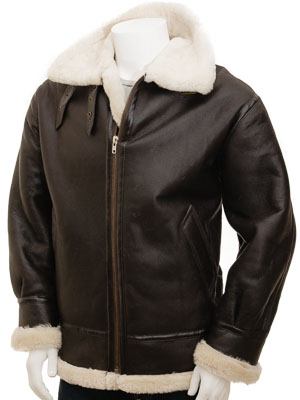 Men's Cream Sheepskin Jacket: Chemnitz