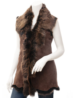 Womens Brown Gold Toscana Shearling: Stamford