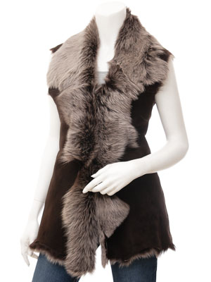 Womens Brown Silver Toscana Shearling: Stamford