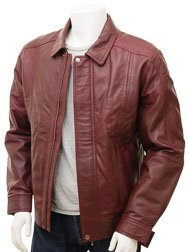 Mens Oxblood Leather Jacket: Rennes