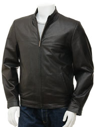 Men's Black Leather Jacket: Rovno