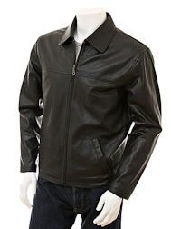 Men's Black Harrington Leather Jacket