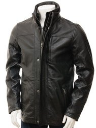 Men's Black Leather Jacket: Broadclyst