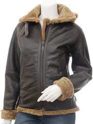 Women's Ginger Sheepskin Jacket: Chandler