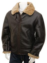 Men's Ginger Sheepskin Aviator Jacket: Chemnitz