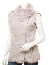 Women's Grey Toscana Shearling Gilet: Creola