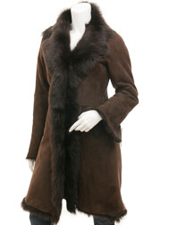 Toscana Shearling in Brown: Madison
