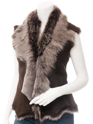Womens Brown Silver Toscana Gilet: Vallejo