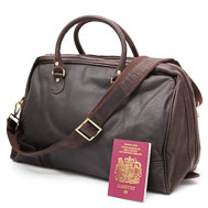 Brown Leather Holdall: Abernethy