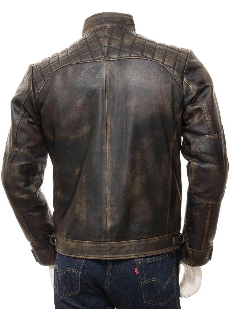 Vintage Leather Jacket >> Men S Vintage Leather Biker Jacket Sibiu