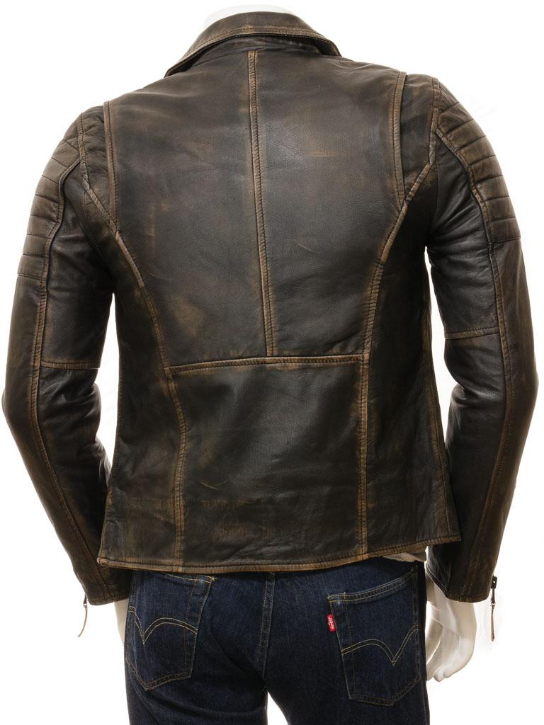 Men's Vintage Leather Biker Jacket: Buckerell :: MEN :: Caine