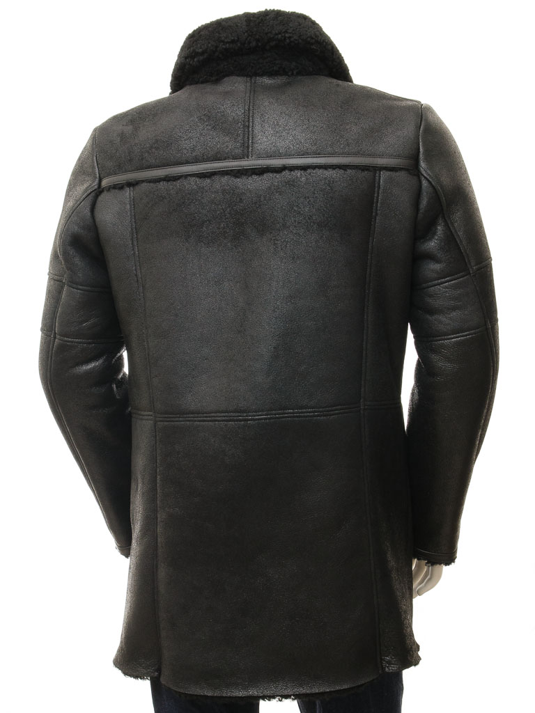 Mens Sheepskin Coat >> Men's Black Sheepskin Coat: Chardstock :: MEN :: Caine