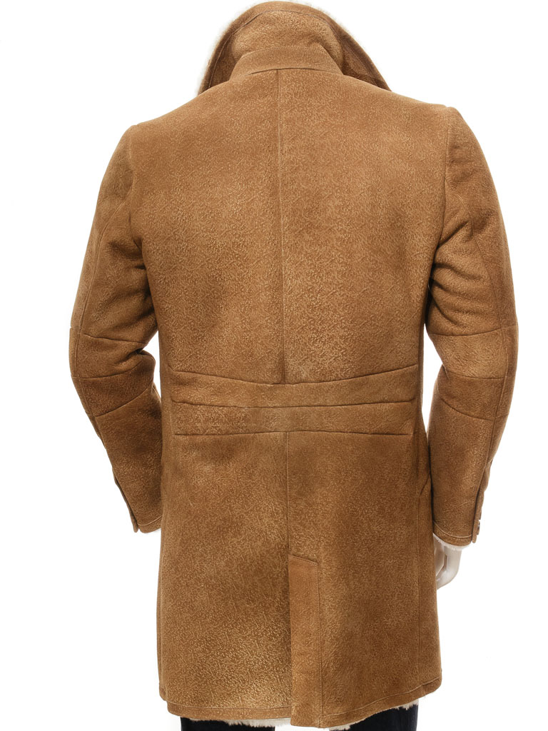Men's Tan Sheepskin Trench Coat: Cotleigh :: MEN :: Caine