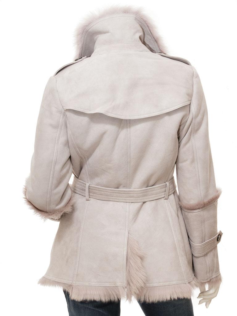 Women's Grey Sheepskin Shearling Coat: Cromwell :: WOMEN :: Caine