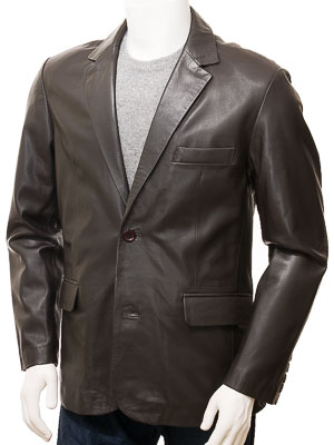 Mens Leather Blazer in Brown: Alphington