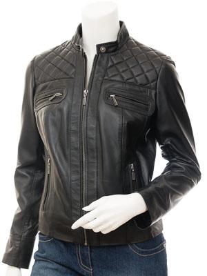 Womens Black Leather Jacket: Blountsville
