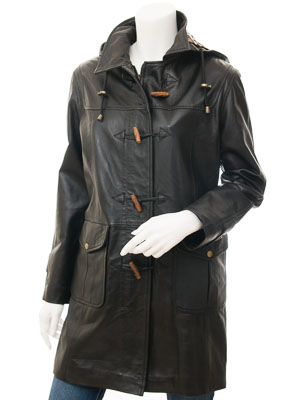 Womens Black Leather Duffle: Hollywood