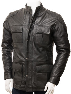 Men's Black Leather Jacket: Ide