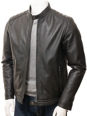 Men's Black Leather Jacket: Jacobstowe