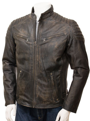 Men's Vintage Leather Biker Jacket: Maikop
