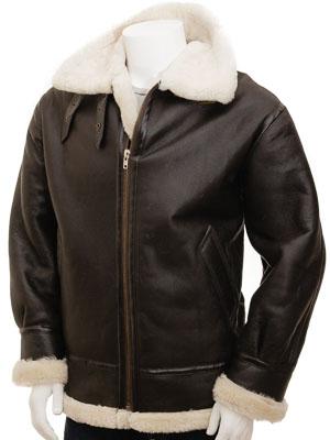 Men's Cream Sheepskin Jacket: Chemnitz
