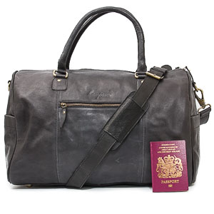 Black Leather Holdall: Colmonell