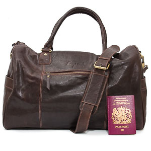 Brown Leather Holdall: Colmonell