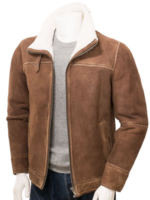 Men's Brown Sheepskin Jacket: Knowle