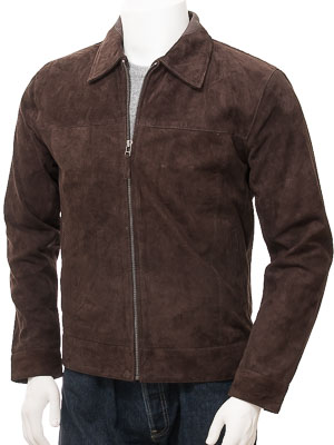 Mens Brown Suede Jacket: Leverkusen