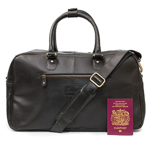 Black Leather Holdall: Loth