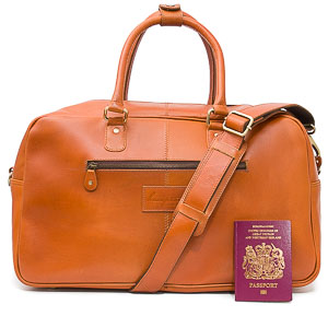 Tan Leather Holdall: Loth