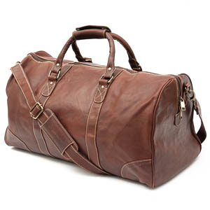 Leather Holdall in Brown: Ardgour