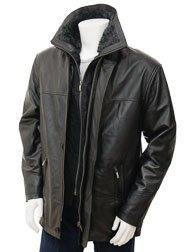 Men's Black Leather Coat: Erfut