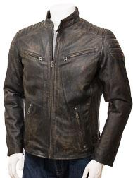 Men's Vintage Leather Biker Jacket: Maikop