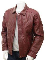 Mens Oxblood Leather Jacket: Rennes