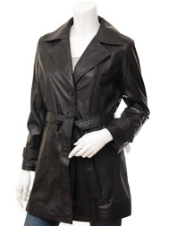 Womens Black Leather Coat: Evansville