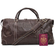 Brown Leather Duffle Bag: Langlands
