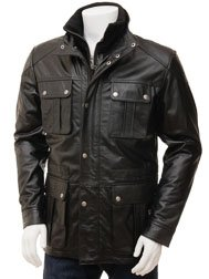 Men's Black Leather Jacket: Nis